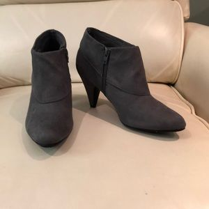 Grey Suede Short Boot